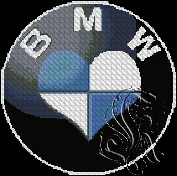 Значок bmw для вышивки